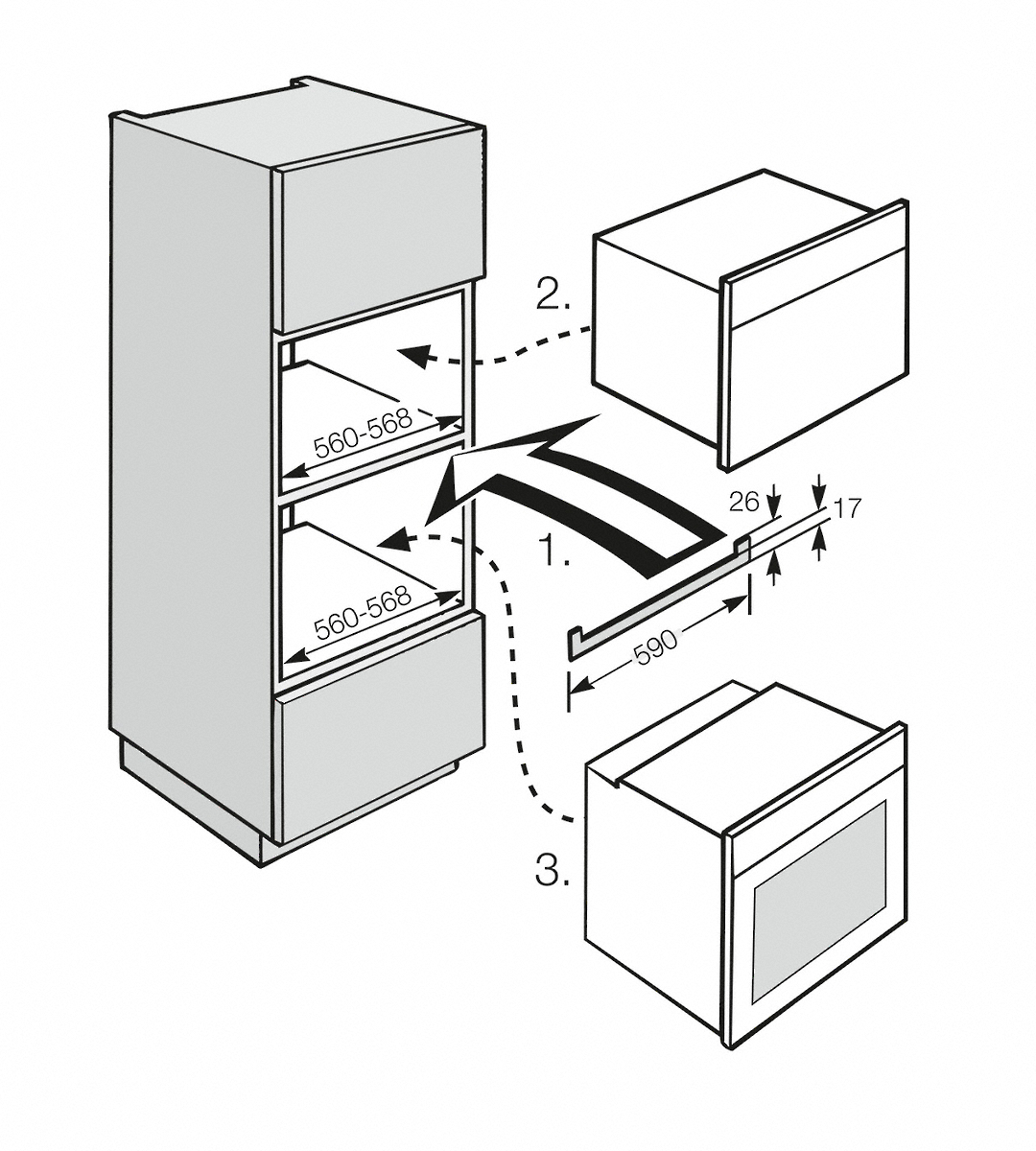 Installation Drawings For Concealing Furniture Edge With Different  Appliance Combos