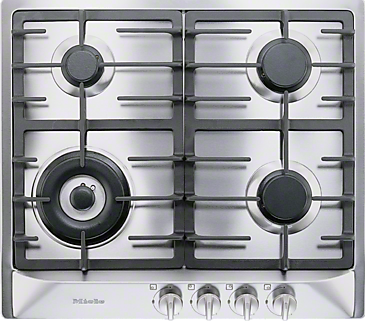 KM 362-1 G - Gas cooktop with a mono wok burner for special applications.--Stainless steel