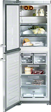 KFN 14827 SDE ed/cs - Freestanding fridge-freezer Increased convenience thanks to Perfect fresh, Frost free--Stainless steel/CleanSteel