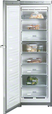 FN 12827 S edt/cs - Freestanding freezer with EasyOpen and NoFrost for convenient side-by-side installation.--Stainless steel