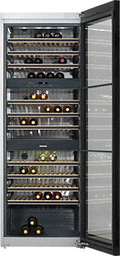KWT 6831 SG - Freestanding wine conditioning unit with extra versatility and style, thanks to FlexiFrame and Miele Noteboard.--NO_COLOR