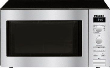 M 6012 SC - Freestanding microwave oven with automatic programmes, grill function and stainless steel interior.--Stainless steel