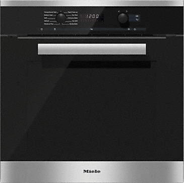 H 6260 B - Ovens with electronic clock and Moisture Plus for perfect cooking results.--Stainless steel/CleanSteel