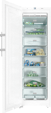 FN 28262 ws - Freestanding freezer with Frost free and lever handle for convenient side-by-side combination.--White