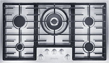 KM 2354 - Gas cooktop in maximum width for the ultimate in cooking and user convenience.--Stainless steel