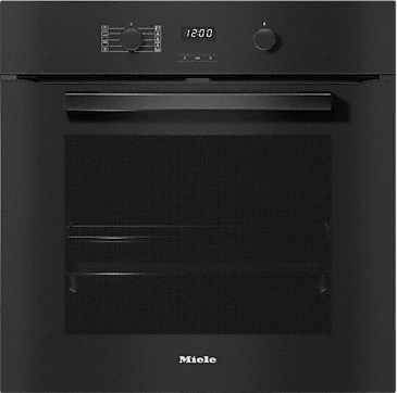 H 2860 BP - Ovens with a timer, XL cavity and pyrolytic cleaning.--Obsidian black
