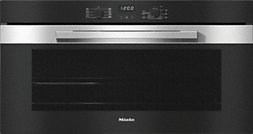 H 2890 B - 90 cm wide oven in a perfect mix and match design with timer and PerfectClean. --Stainless steel/CleanSteel
